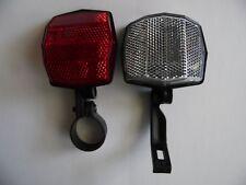 Vintage SATE-LITE 117 BS 6102-2 reflector front rear set + mounts