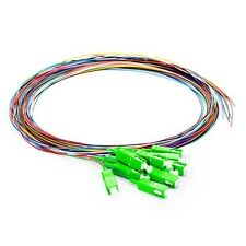 12 Fibers SC/APC SingleMode Color-Coded Fiber Optic Pigtail [1M] Unjacketed-0079
