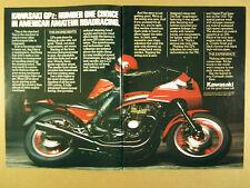 1983 Kawasaki GPz GPz750 Spectre 750 & LTD 1100 motorcycles vintage print Ad