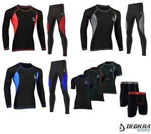 Mens Compression Tights Base Layer Skin Fit Under Armour Yoga Running Pants/Top