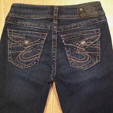 SILVER Jeans SUKI SURPLUS Bootcut 26x32 Darker Distressed  *MINT LN*  J040817