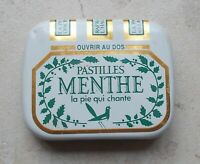 Ancienne petite boite Pastilles Menthe La Pie Qui Chante blanc vert Pharmacie