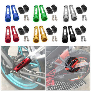 Passenger Footrests For Yamaha YZF R1/R6/R1M/R1S Rear Foot Pegs Pedal Aluminum