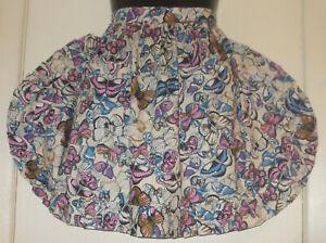 Allround Frill 'Butterflies' Vintage Style Half/Waist Apron/Pinny 100% Cotton