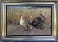 Impressionist Nora Dahlen 1869 Truthähne before Cornfield - Turkey 87 x 115,5 XM