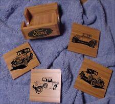 Ford Model A Bamboo Coaster Set 5 pcs. Laser Eng.