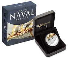 Cook Islands 2010 Famous Naval Battles #3 Hampton Roads $1 Silver Color Proof