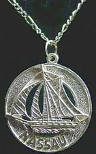 COOL Bahamas Nassau Sail boat silver Jewelry Pendant Charm
