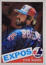 Steve Rogers Expos Autographed 1985 Topps #205 Signed Card 16L