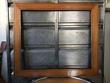 Ancien Cadre Pitchpin Décor Filet Noir 55x46cm Format 10 F XIXème