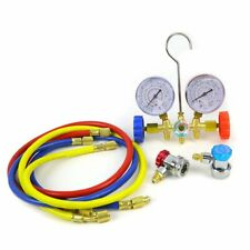 Auto Manifold Gauge R12 R22 R134A R502 A/C Set With Couplers
