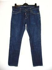 D-squared2 Mens Denim Jeans Straight Slim Cut Dark Blue 34W 33L Made in Italy