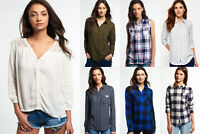 New Womens Superdry Shirts Selection - Various Styles & Colours 3008