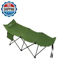 Folding Portable Camping Cot Bed Steel Tube Frame Collapsible Sleeping Outdoor