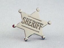 Sheriff Badge Enamel & Metal Lapel / Pin Badge - 24mm BRAND NEW