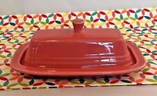 Fiestaware Flamingo Butter Dish Fiesta Retired Pink Small Covered Butter