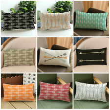 Arrow Print Rectangle Sofa Bed Home Decor Festival Pillow Case Cushion Cover