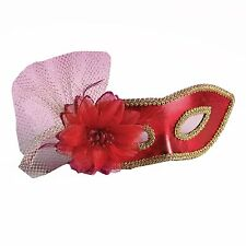 Forum Mardi Gras Costume Masquerade Venetian Half Mask With Netting And Flower