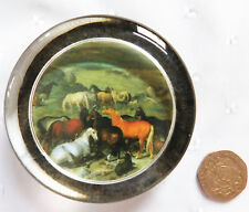 Glass paperweight Imperial Stud with Lipizzaner Horses by Johann George Hamilton