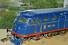 RARE ! Old Russian toy vintage soviet tin Railway locomotive TRAIN Stalin model