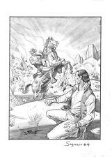 "DAVIDE FURNO' - Tavola originale Saguaro copertina n.4 ""Fratelli di sangue"""