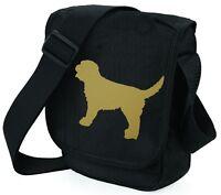Labradoodle Dog Bag Shoulder Bags Metallic Gold on Black Handbag Xmas Gift