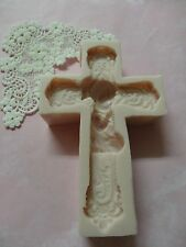 Girl First communion cross silicone mold fondant cake decorating wax soap food