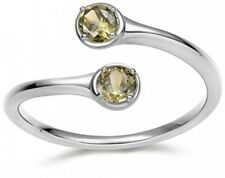 Periodot Cubic Zirconia August Birthstone Wrap Adjustable 925 Sterling Silver
