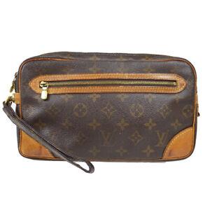 LOUIS VUITTON MARLY DRAGONNE CLUCTH HAND BAG PURSE MONOGRAM M51825 at 70802