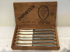 Vintage Austrian Swordsmakers 6 Steak Knives Case No. 317 In Original Box