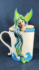 Mermaid in the Coffee Cup Whimsical Fantasy