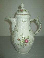 Rosenthal Classic Rose Form Sanssouci Moosrose Goldrand Kaffeekanne - 25cm