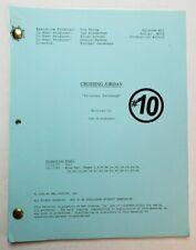 """CROSSING JORDAN / Ian Biederman 2002 TV Script JILL HENNESSY """"Prisoner Exchange"""""""