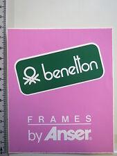 Aufkleber Sticker Benetton - Frames by Anser Sponsor Formel 1 90er Jahre P(1910)