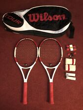New listing Huge Package Deal! 2 Wilson Pro Staff 100l! Tour Bag! Bumpers! Wristbands!