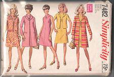 """7482 SIMPLICITY c.1967 - Sleeveless DRESS JACKET COAT - Sz 10 B 32.5"""""""