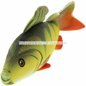 New 60cm Perch Fish Shaped Bedchair Pillow Cushion Fishing Soft Toy Angler Gift