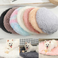 Ultra Soft Plush Pet Puppy Mat Dog Bed Round Cushion Cat Warm Winter Bed S/M
