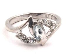 Sterling Silver Marquise Cubic Zirconia Ring Size 7 3.1grams