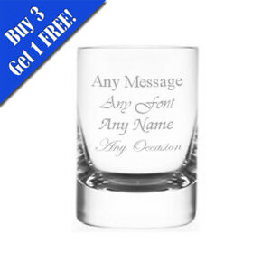 Personalised Engraved 50ml Round Hot Shot Tot Glass Wedding Birthday Christmas
