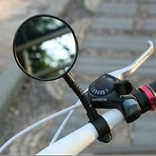 1pc Bike Bicycle Handlebar Flexible Rear Back View Rearview Mirror Black