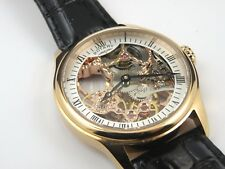 Rotary Gents Skeleton Manual Wind Rose Gold Case Watch GS02522/01