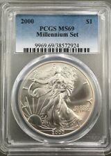 2000 American Silver Eagle Dollar MS69 PCGS Millennium Set