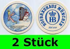 2 Stück Bierdeckel  Hofbräuhaus München - Ein Münchner im Himmel Nr. 23 Aloisius