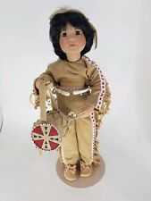 Georgetown Collection 1993 Quick Fox Native Boy Porcelain Doll by Linda Mason