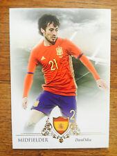 2016 Futera Unique Soccer Card - Spain Manchester CITY DAVID SILVA Mint