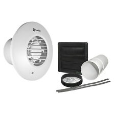 "Xpelair DX100PR Simply Silent 4"" Round Extractor Fan with Pullcord and Wall Kit"