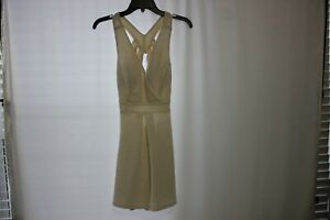 speechless brand dress, cream colored W/gold sparkle Sz 11 NWT 32 inch long