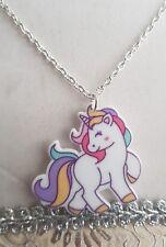 Pastel Rainbow Unicorn Necklace - Cute, Kawaii