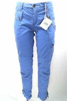 pantaloni donna 40WEFT 42 blu cotone AS513